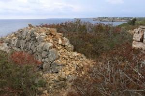 09 Steinmauer an der Küste